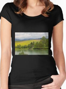lansndscape lake Women's Fitted Scoop T-Shirt