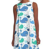 Whale, Whale, Whale A-Line Dress