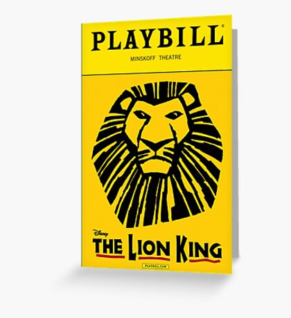 The Lion King Playbill Greeting Card
