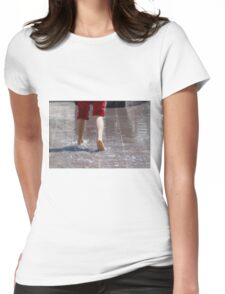 feet in the water Womens Fitted T-Shirt