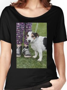 cute dog with baby Women's Relaxed Fit T-Shirt