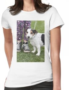 cute dog with baby Womens Fitted T-Shirt