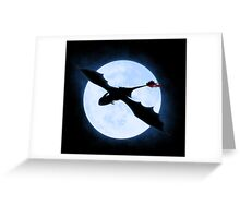 Full Moon Dragon Greeting Card