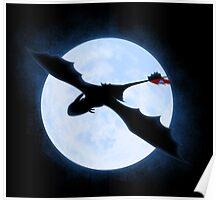 Full Moon Dragon Poster