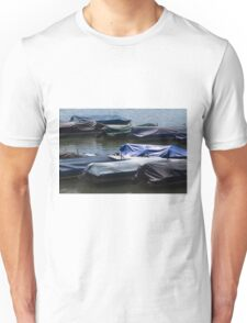 boat on the river Unisex T-Shirt