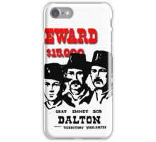 Modern Wanted Poster iPhone Case/Skin