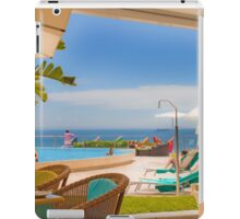 lunch view. cascais iPad Case/Skin