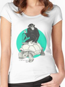 Ape and Tortoise Women's Fitted Scoop T-Shirt