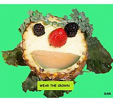 FOOD FACE (WEAR THE CROWN) Photographic Print