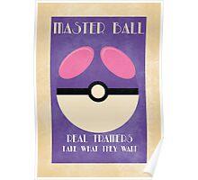 Retro Pokemon Poster - Masterball Poster