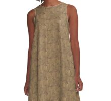 Golden Rectanlge A-Line Dress