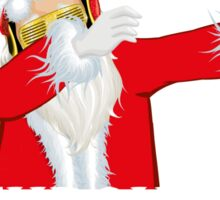 Dabbing Through The Snow Funny Santa Claus Sticker