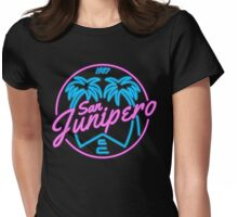 Black Mirror San Junipero NEON Womens Fitted T-Shirt