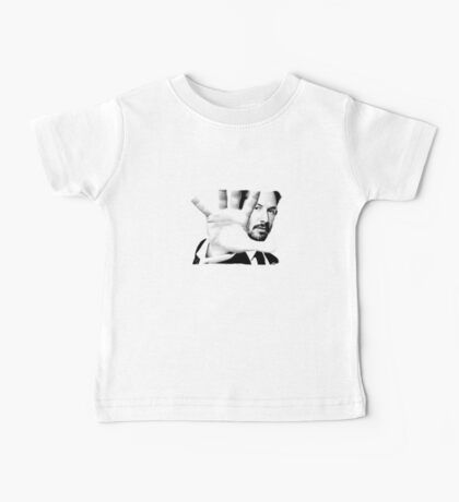 Keanu Reeves (Black and White Silent Attitude) Baby Tee