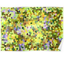 Abstract Mosaic Pattern, Lilac Woods Poster