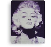 Pixelated Purple Marilyn Monroe Painting Canvas Print