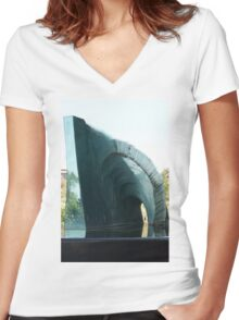 Glass Sculpture Women's Fitted V-Neck T-Shirt
