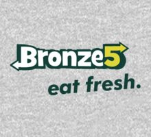 Bronze 5 - subway logo parody Kids Tee