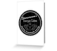 Starscream's Energon (Black) Greeting Card