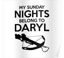 My Sunday Nights Belong to Daryl Poster
