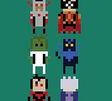8-Bit Titans by kindigo