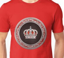 Prince-Princess King-Queen Crown [Silver]  Unisex T-Shirt