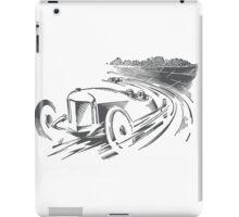 Vintage Racecar / Roadster (black) iPad Case/Skin