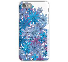 Floral blue flora iPhone Case/Skin