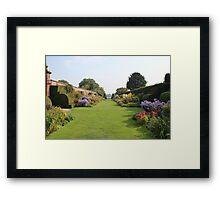 Arley Hall Walled Garden Framed Print