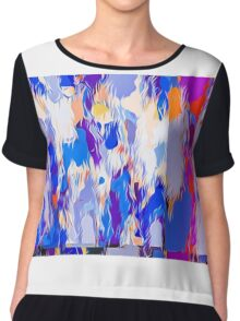 blue purple pink orange and red painting abstract background Chiffon Top