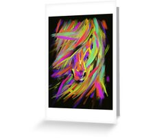 Horse Rainbow Hair Greeting Card