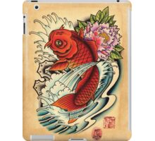 Koi with Peony iPad Case/Skin