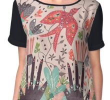 Spring Bird  Chiffon Top