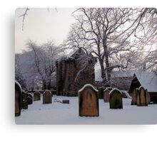 Churchyard In Winter Canvas Print