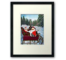 Santa Leo, Santa Houston, and Rudolph Framed Print