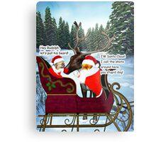 Santa Leo, Santa Houston, and Rudolph Metal Print