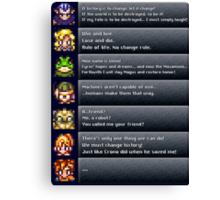 Chrono Trigger Quotes Canvas Print