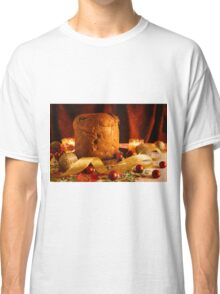 Christmas cake and Christmas decorations Classic T-Shirt