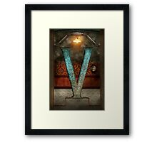 Steampunk - Alphabet - V is for Victorian Framed Print
