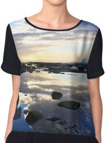 Susan Gilmore Beach Sunrise Chiffon Top