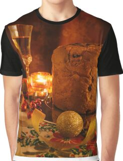 Italian panettone and sparkling wine Graphic T-Shirt