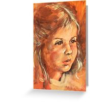 Portrait of a little Girl Greeting Card