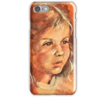 Portrait of a little Girl iPhone Case/Skin