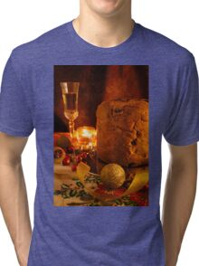 Italian panettone and sparkling wine Tri-blend T-Shirt