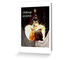 Christmas Angel Face Off Greeting Card