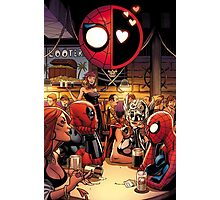 Deadpool and Spider-Man in A Bar Photographic Print