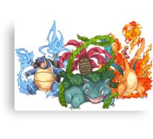 Pokemon Gen I Starters Canvas Print
