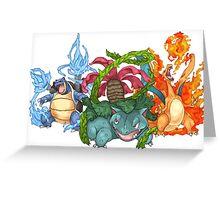 Pokemon Gen I Starters Greeting Card