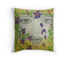 Earth Goddess - Mother Nature Throw Pillow