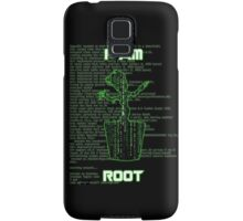 I AM ROOT (Matrix version) Samsung Galaxy Case/Skin